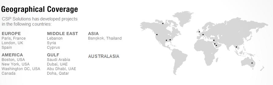 CSP GEO Coverage Map